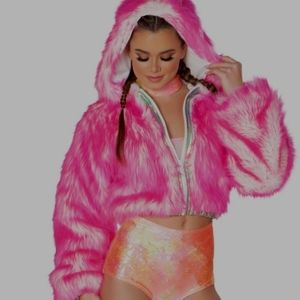 Light up Pink Hooded Jacket